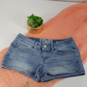 So Brand shortie blue jean shorts sz 3